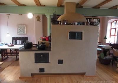 Holzbrandofen und Kochmaschine