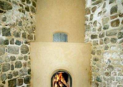 geschlossener Kamin, Burg Rabenstein